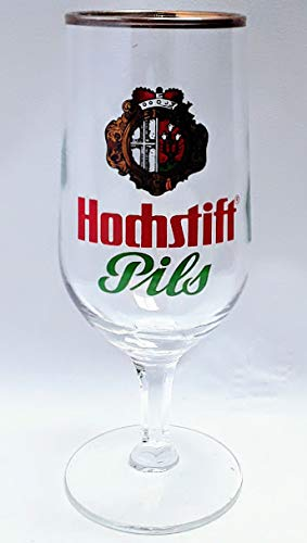 Bierglas Hochstift Pils 0,2l Glas Goldrand/Gastro/Bar/Sammler / 6er Set