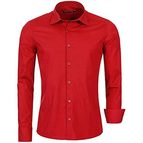 Redbridge R-2111, Camicia casual Uomo, Rosso (Red 072), 3XL
