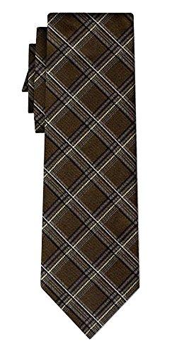 Cravate soie tartan pattern brown