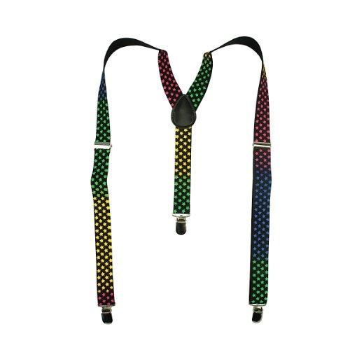 Bretelles Fashion Braces Multicolored Stars