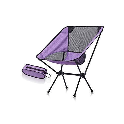Plegables Silla de Camping Portátil Plegable Silla de Playa con Bolsa de Transporte Carga hasta 150 KG para Senderismo Viaje Pesca Playa Jardin Barbacoa 53 x 35 x 67cm Acampar (Color : A)