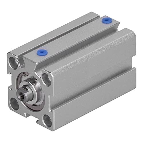 LANTRO JS - Cilindro de aire neumático Componentes neumáticos de doble acción de aluminio Piezas de maquinaria Calibre 20 mm Vástago de pistón atornillado de doble acción(SDA20X40)
