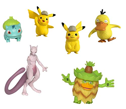 Lively Moments Pokémon Movie Meisterdetektiv Pikachu Multi-Pack 6 Figuren / Kinofilm Sammelfiguren / Spielfiguren
