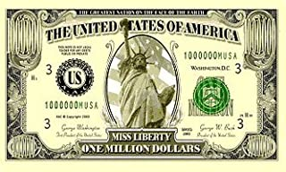Flag One Million 1,000,000 US Dollars $ American Bank Note Banner 5'x3