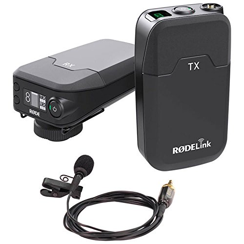 Rode Filmmaker Kit - Sistema de microfónica inalámbrica (alcance 100 metros, pantalla OLED), color negro