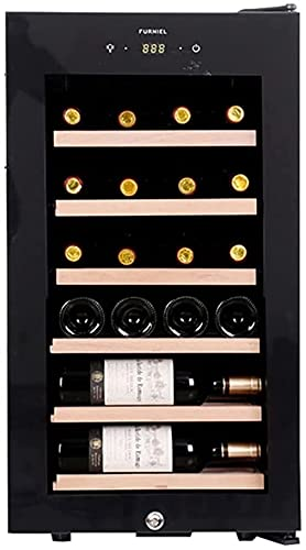 FREEZYMAN Built-in 24 Bottle Wine Cabinet, Temperature-Controlled Independent Wine Cellar, Household Mini Electronic Wine Cabinet, Small Desktop Ice Bar (Color : Black, Size : 70.447.638cm)