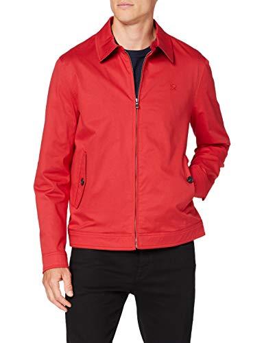 Hackett London Cotton Blouson Chaleco deportivo, Rojo (255red 255), XL para Hombre