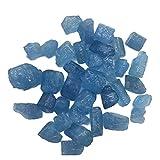 YSJJDRT Cristal Natural Rugoso Natural Azul áspero aguamarino Piedra Crudo Cicatriz espécimen Mineral Cristal joyería Haciendo decoración del hogar Acuario (Size : 100g)
