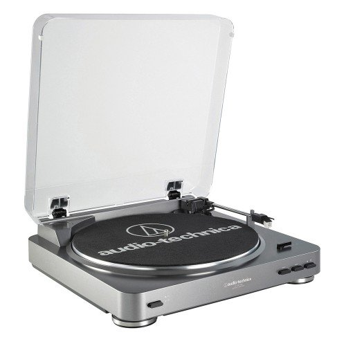 Audio Technica AT-LP60USB Plattenspieler (45rpm, AUX, USB) silber