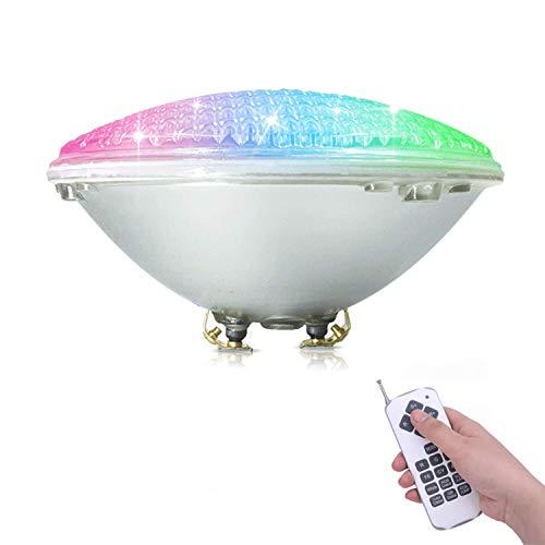 COOLWEST RGBW Luci per piscina LED Luci da piscina 36W PAR56 Illuminazione subacquea con Telecomando, 12V Impermeabile IP68, Sostituire le lampadine alogene 250W