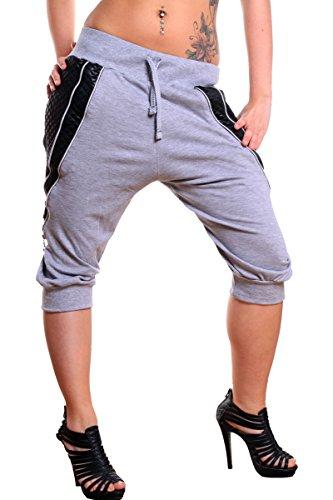 L.Gonline dames jogging bermuda shorts | lichte katoenen broek met zakken | korte joggingbroek voor vrouwen | zomerbroek met rits design 585
