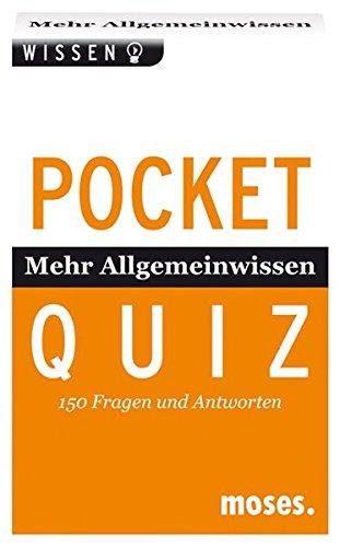 Pocket Quiz Mehr Allgemeinwissen: 150 Fragen und Antworten (Pocket Quiz / Ab 12 Jahre /Erwachsene)