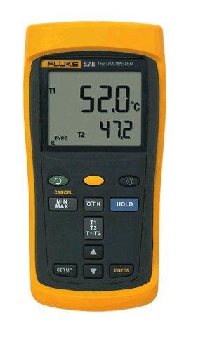 FLUKE-52-2 50HZ Termómetro digital de dos canales para termopar K, J, T y E