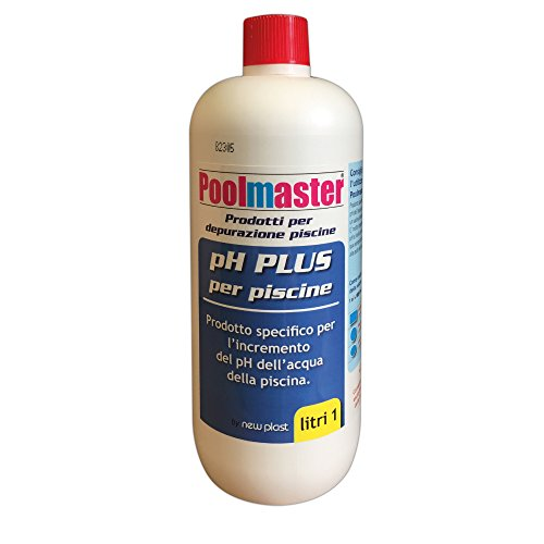 New Plast 3004 - Correttore di pH Plus per Acqua Piscina, Flacone 1 lt