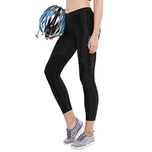 Santic Women's Bike Pants Cycling Tights Padded 6D Bicycle Long Legging Breathable & Quick Dry