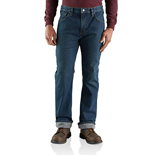 Carhartt Men's Rugged Flex Relaxed Fit Straight Leg Knit Lined Jean, Superior, 36W X 32L