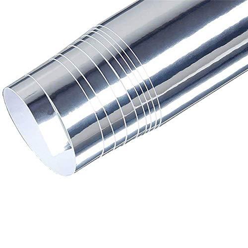 "Yija Chrome Silver Self-Adhesive Vinyl Wrap Car Sticker Decal Film Sheet 15""x118"""