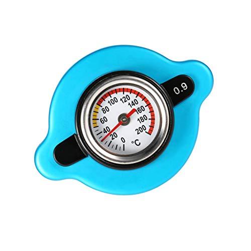 H HILABEE Auténtica Tapa de Radiador de Calibre Termostático 1.3bar Medidor de Temperatura Del Agua de Cabeza Pequeña