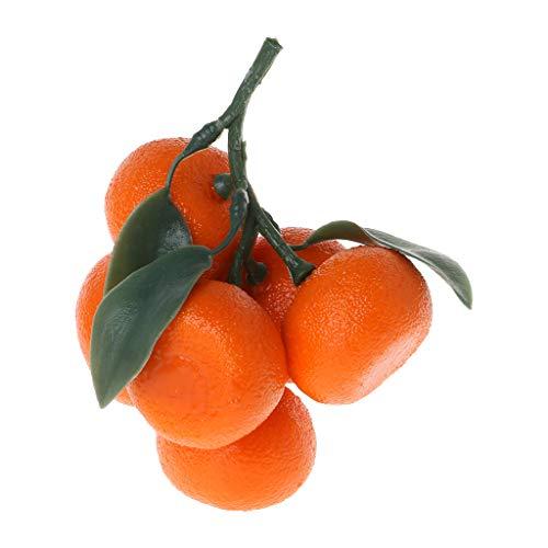 Realistische lebensechte künstliche Mandarine Obst Orangen Fake Display Lebensmittel Dekor Halloween Home Party Decor