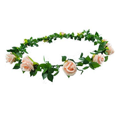 LYM Couronne de Fleurs Fleurs Bandeau Mariage Corolla Bride Festival Chapeaux Accessoires (Couleur : A)