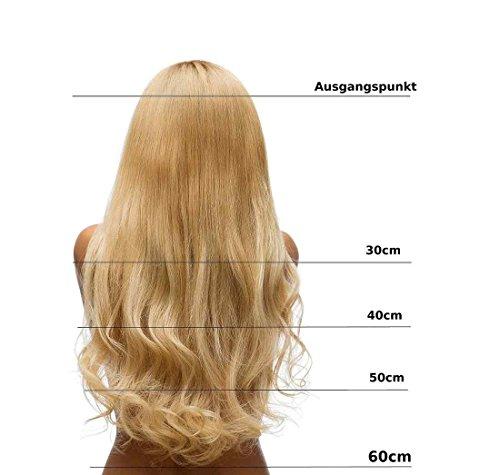 Hair2Heart 25 x 0.5g Extension Capelli Veri Cheratina - 40cm, Colore #10 Biondo Miele Cenere, ondulato