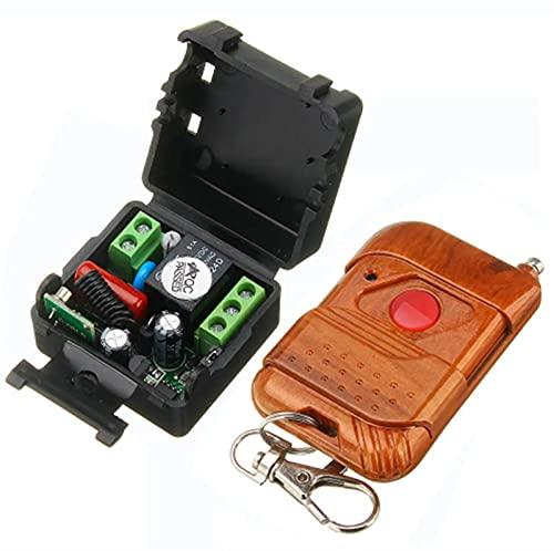 WANGXI 433MHZ / 315MHz AC 220V 1CH 10A Relé Inalámbrico Control Remoto Interruptor de Control Remoto Controlador de Seguridad Transmisor Control Remoto - 433 MHz