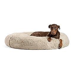 commercial Sheri Calming Shag Vegan Far Donut Kushler's Best Friend (DNT-SHG-TAU-4545-VP) huge round bed