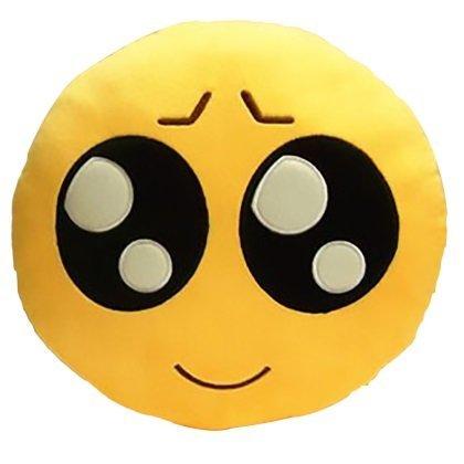 KayMayn smiley Emoji cuscino rotondo 32cm, emoticon carino morbido peluche comodo cuscino peluche smiley, peluche giocattolo morbido Style 14