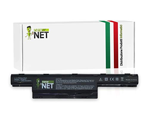 New Net Batteria AS10D51 AS10D31 compatibile con Packard Bell EasyNote LE / LM / LS / NM / NS / TK / TM / TS / TSX - AS10D41 AS10D61 - Compatibile con Aspire 4250 Series 4252 4253 4253G - Acer Aspire 4551G, 4741, 4771G, 5336, 5551, 5736Z, 5741, 5742, 7741G, 5750G-2312G50, 5750G-2312G50 , eMachines E440, E442, Gateway NV49C, NV53, NV59C, 8472 (5200 mAh)