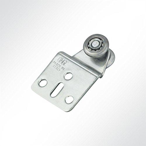 LYSEL Laufrolle Führungsrollen Laufwagen Rollenlaufwerk verzinkt mit Kugellager für Laufschiene 25x19mm Schiebetor (1 Stück)