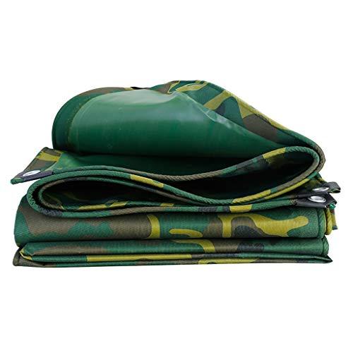 zxb-shop Lona alquitranada Camuflaje Verde Impermeable de Tela Oculta Ligera Exterior de Lona Lona 10 tamaños for la opción Lona (Size : 3m×3m)