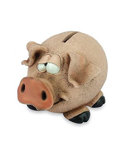 Les Alpes Hucha cerdo de 13 cm – Animal pintado a mano de resina sintética – Funny Animal Collection – 014 92803