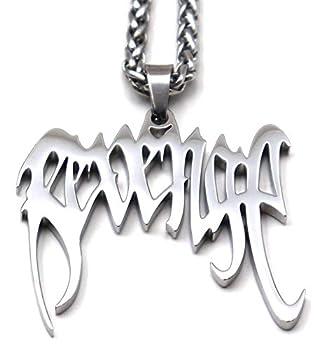 Rvg Xxx Hip Hop Rapper Pendant Chain Necklace  Silver