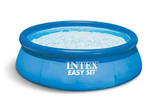 Global 4in1 Set Gartenpool 366 x 76cm Easy Set Quick Up Pool mit Filterpumpe 2271 Liter/Stunde und Ersatzfilter 7 Stück INTEX 28130