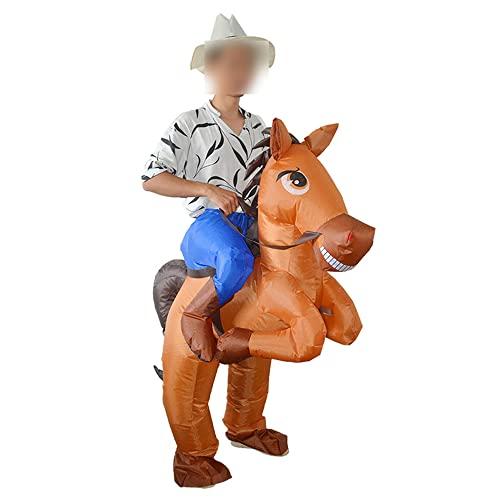 RSHJD Big Tail Horse Inflatable Disfraz Western Cowboy Party Show Bujes
