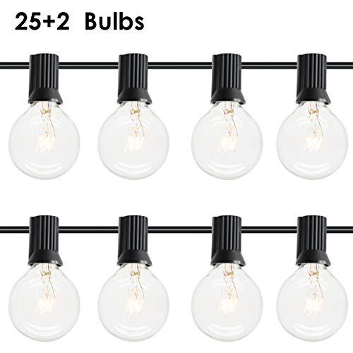 Gojiny 25 G40 Globe String Lights Warm White Waterproof Decorative Fairy String Lights Festoon Plug-in Outdoor Garden Decor