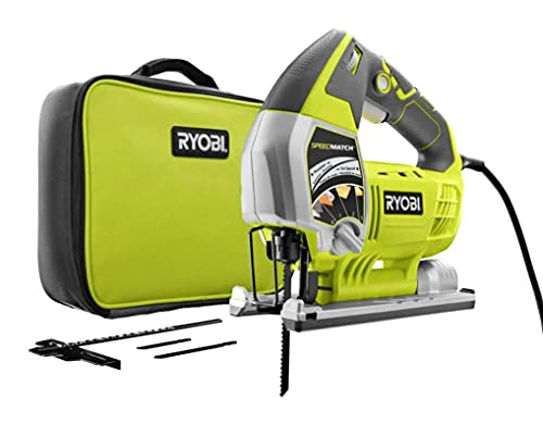 Ryobi 6.1 Amp Corded Variable Speed Orbital Jig Saw With Speed Match - JS651L1 (Bulk Packaged)