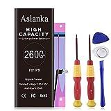 Aslanka 2600mAh Batería iPhone 8 de Alta Capacidad, Batería iPhone 8 con 33.9% más de Capacidad Que la batería Original y con Kits de Herramientas de reparación, Instrucciones