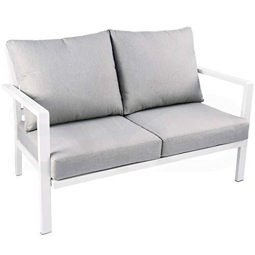 Sofá 2 plazas Aluminio 1ªcalidad para Exterior. Mod. Soller