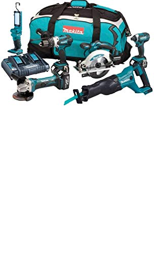 Makita dlx6044pt Pack de 6 Machines 3 x 18 V 5 Ah Li-ion + bolsa de transporte