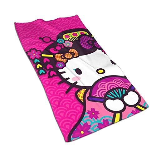 Leo-Shop Handtücher - Hello-Kitty mit Ventilator Weiches und saugfähiges Luxushandtuch 27,5 'x 15,7'