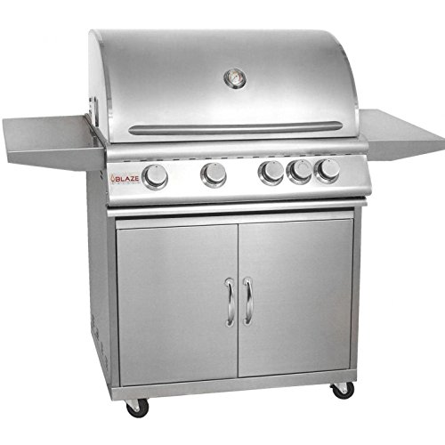 Blaze 32-Inch 4-Burner Freestanding Natural Gas Grill With Rear Infrared Burner - BLZ-4-NG