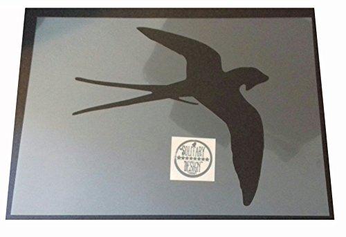 Mylar Shabby-Chic-Schablone, Schwalbe im Flug-Motiv, auf Bogen, rustikal, A4,297x 210mm
