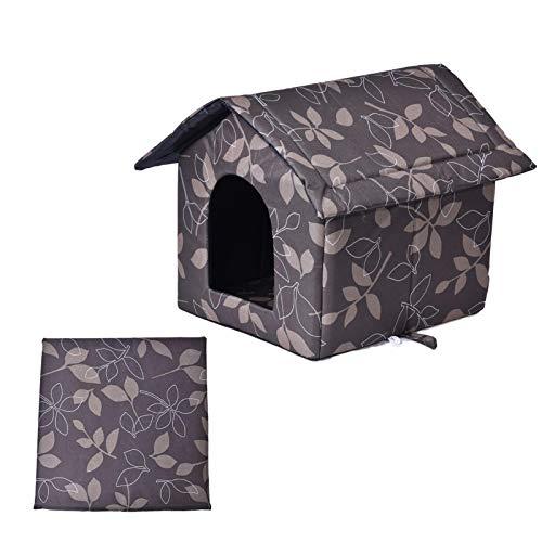 Outdoor Kitty House, Haustierprodukte Warm Wasserdicht Outdoor Kitty House Hundehütte Outdoor Kitty House