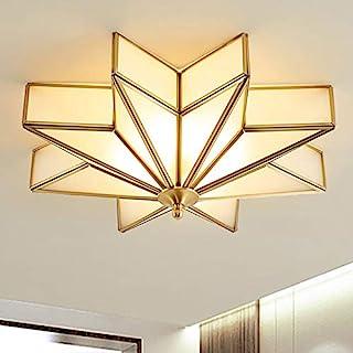 LITFAD چراغ سقفی LED 4 نور مدرن دارای شیشه مات مات شیشه برافروخته لامپ روشنایی ستاره برنجی سنتی نزدیک به چراغ سقفی چراغ آویز تزئینی برای اتاق هتل اتاق نشیمن اتاق خواب