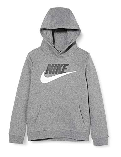 NIKE B NSW Club + Hbr Po Sudadera, Niños, Carbon Heather, S