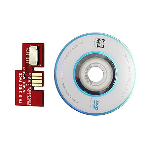 Ontracker D2SP2 Adapter TF Kartenleser ersetzen + Swiss Boot Disc Mini DVD für NGC NTSC -rot