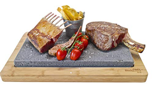 Black Rock Grill Steak Lava Stone Sharing Set Table Top Grill