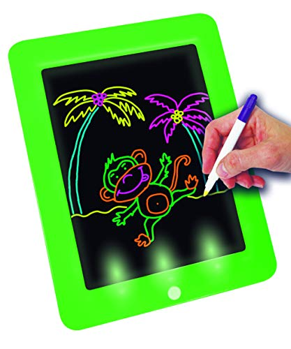 BEST DIRECT Fantastic Pad Visto en TV Pizarra Mágica con Luces Led y Cartones de dibujo Para Dibujar y Pintar Regalo para Niños No Ensucia Estimula la Creatividad