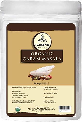 Naturevibe Botanicals Organic Garam Masala, 1 Pound - 100% Pure, Natural & USDA Organic Certified   Adds taste and flavor [Packaging may vary]